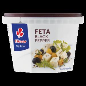 Clover Black Pepper Feta Cheese Tub 200g