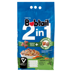 Bobtail 2-In-1 Chicken Flavoured Dog Food With Real Veggie Chunks 6kg
