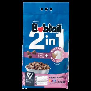 Bobtail 2-In-1 Chicken Flavoured Puppy Food With Milky Bones 5.5kg