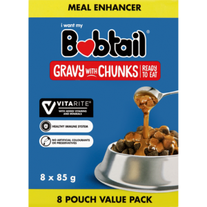 Bobtail Gravy With Chunks Dog Food Value Pack 8 x 85g