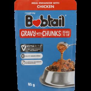 Bobtail Chicken Gravy With Chunks Dog Food 85g