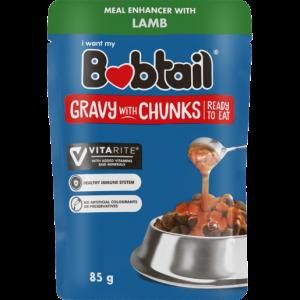 Bobtail Lamb Gravy With Chunks Dog Food 85g