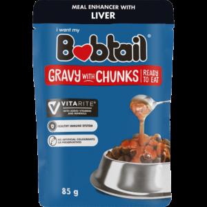 Bobtail Liver Gravy With Chunks Dog Food 85g