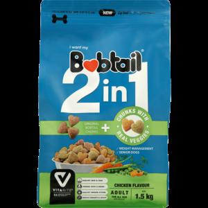 Bobtail 2-In-1 Chicken Flavoured Adult Dog Food 1.5kg