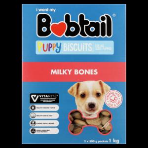Bobtail Milky Bones Puppy Biscuits 1kg