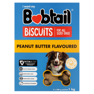 Bobtail Peanut Butter Flavoured Dog Biscuits 1kg