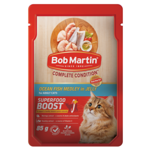 Bob Martin Ocean Fish Medley In Jelly Flavoured Adult Cat Food 85g
