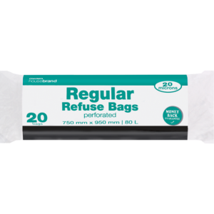 Checkers Housebrand Strong Refuse Black Bags 20 Pack