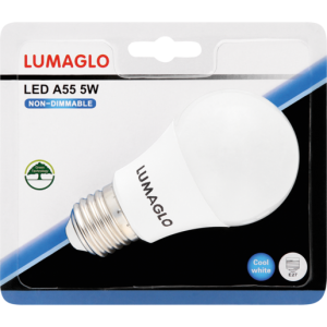 Lumaglo Cool White E27 LED Globe A55 5w