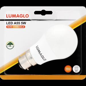 Lumaglo Warm White B22 LED Globe A55 5w
