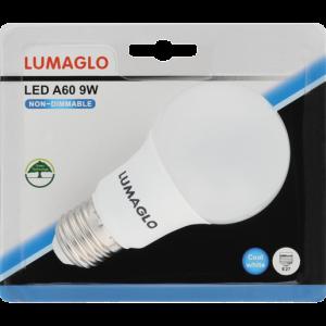 Lumaglo Cool White E27 LED Globe A60 9w