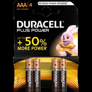 Duracell AAA Alkaline Batteries 4 Pack