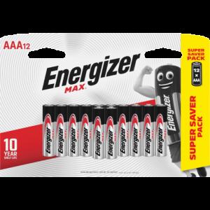 Energizer Max AAA Alkaline Batteries 12 Pack