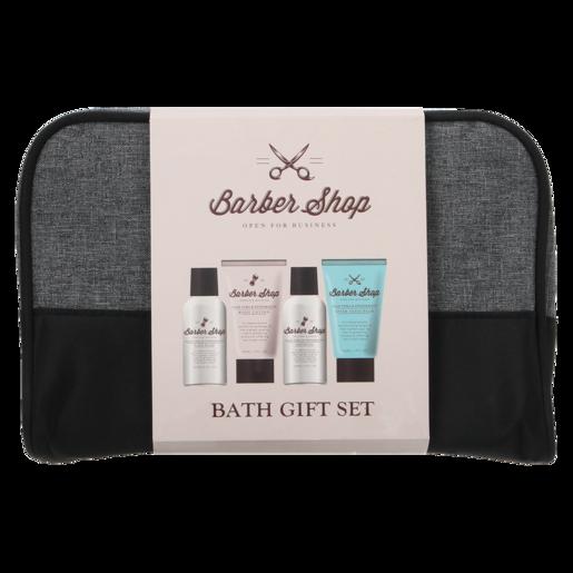Barber Shop Bath Gift Set For Men 4 Piece