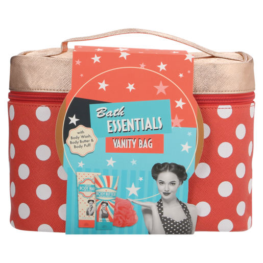 Bath Essentials Vanity Bag Gift Set 4 Piece