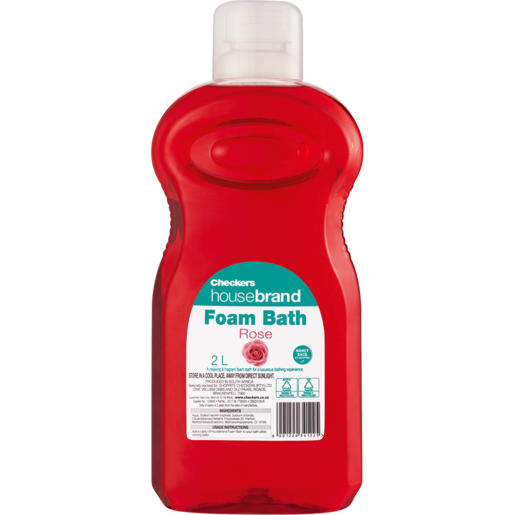 Checkers Housebrand Rose Bath Foam 2L