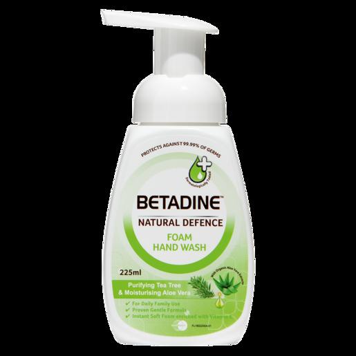 Betadine Natural Defence Purifying Tea Tree & Moisturising Aloe Vera Foam Hand Wash 225ml