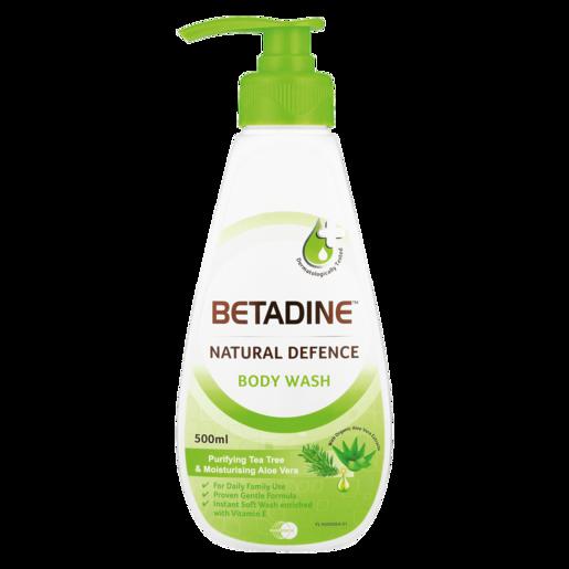 Betadine Natural Defence Purifying Tea Tree & Moisturising Aloe Vera Body Wash 500ml