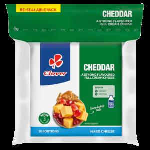 Clover Cheddar Semi-Hard Cheese Portions 10 x 25g
