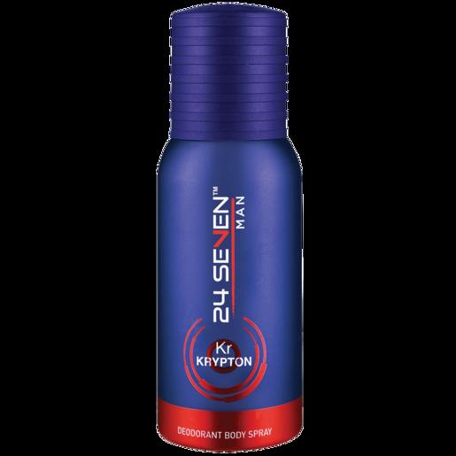 24 Seven Krypton Mens Body Spray Deodorant 130ml