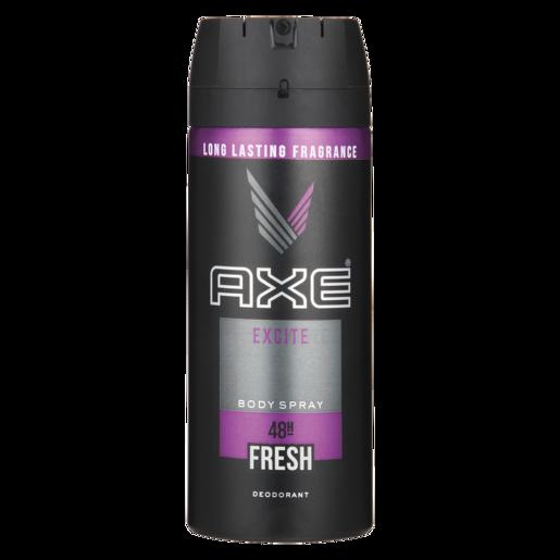 Axe Excite Mens Body Spray Deodorant 150ml