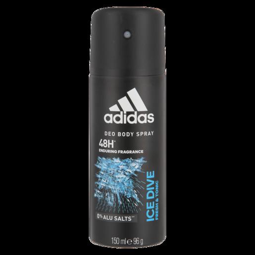 Adidas Ice Dive Mens Body Spray Deodorant 150ml