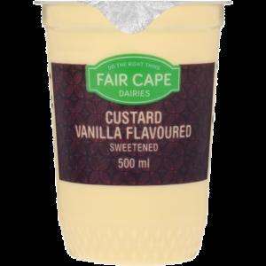 Fair Cape Vanilla Flavoured Custard Dessert 500ml