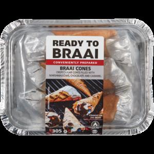 Ready To Braai Cones 6 Pack