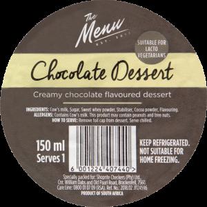 The Menu Chocolate Dessert 150ml