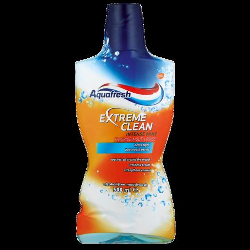 Aquafresh Extreme Clean Intense Mint Flavoured Mouthwash 500ml