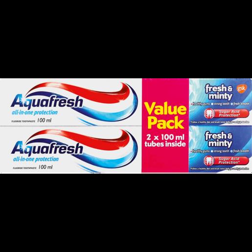 Aquafresh Fresh & Minty Toothpaste 2 x 100ml