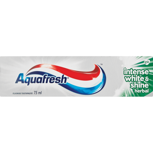 Aquafresh Intense White & Shine Herbal Toothpaste 75ml