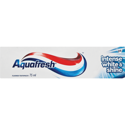 Aquafresh Intense White & Shine Toothpaste 75ml