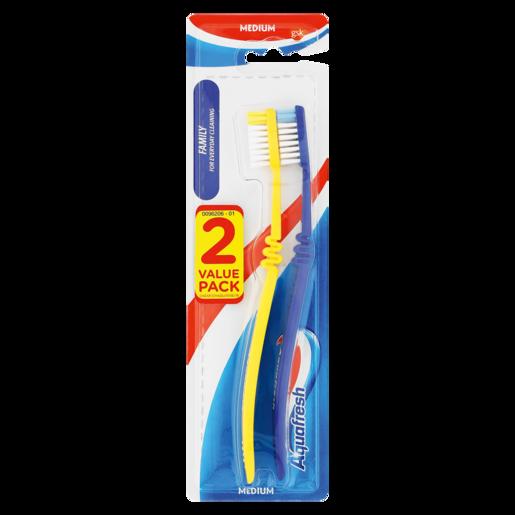 Aquafresh Medium Family Toothbrush 2 Pack