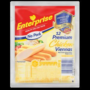 Enterprise No Pork Premium Chicken Viennas Pack 500g