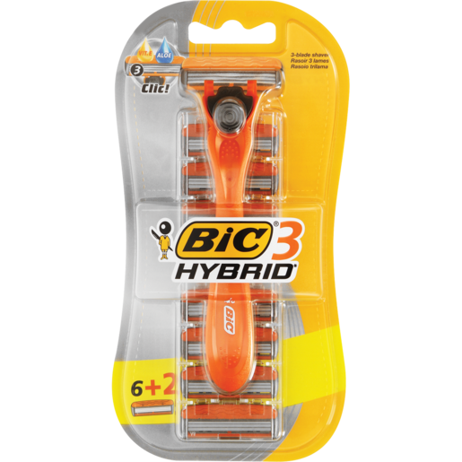 Bic Easy Shave Razor With 8 Replaceable Blades Set