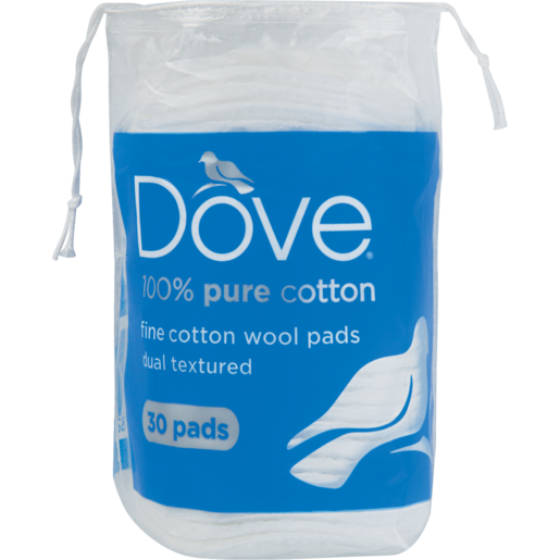 Dove Fine 100% Dual Textured Cotton Wool Pads 30 Pack
