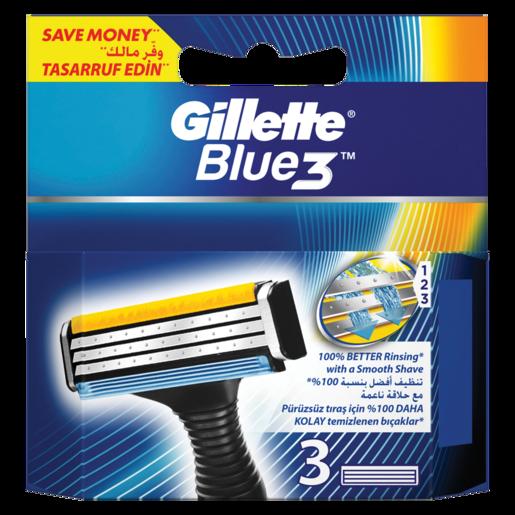 Gillette Blue 3 Blades 3 Pack