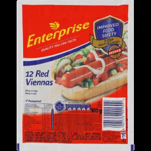 Enterprise Red Viennas Pack 500g