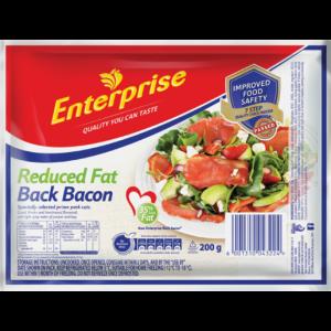 Enterprise Reduced Fat Back Bacon 200g
