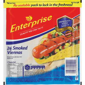 Enterprise Smoked Viennas 1kg