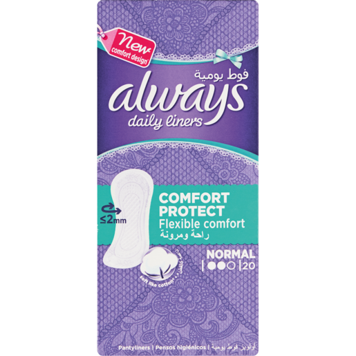 Always Daily Liners Normal Comfort & Protect Pantyliners 20 Pack