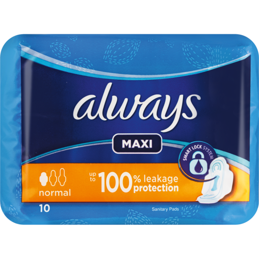 Always Maxi Normal Sanitary Pads 10 Pack