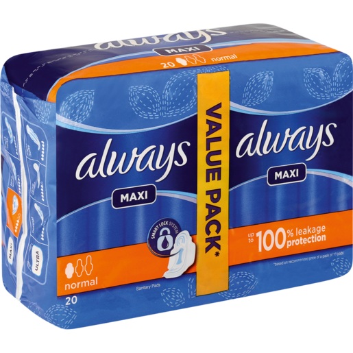 Always Maxi Normal Sanitary Pads 20 Pack