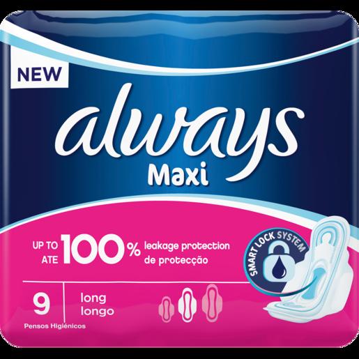 Always Maxi Plus Sanitary Pads 9 Pack