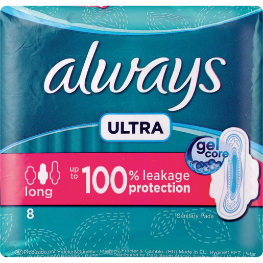 Always Ultra Long Sanitary Pads 8 Pack