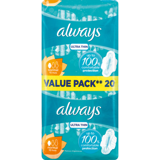 Always Ultra Thin Normal Sanitary Pads 20 Pack