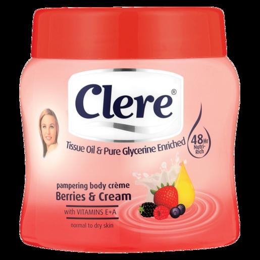 Clere Berries & Cream Hand & Body Cream 500ml
