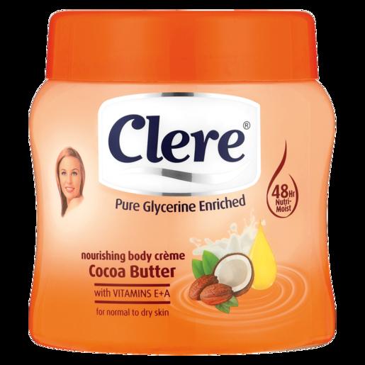 Clere Cocoa Butter Body Cream 500ml