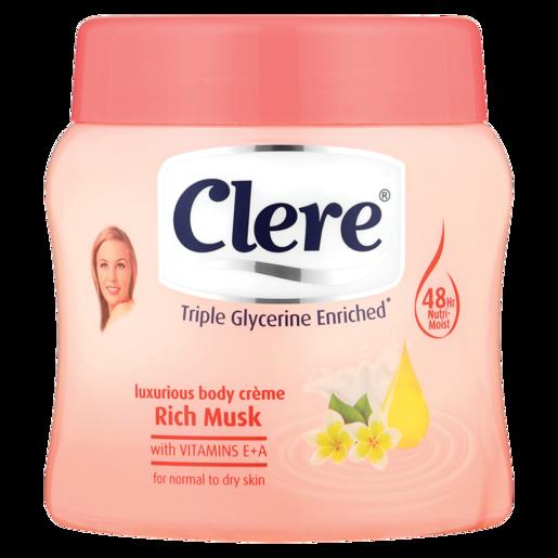 Clere Rich Musk Body Cream 500ml